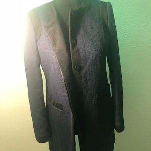 Karl lagerferd authentic long blazer jacket